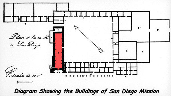 Floor Plan Mission San Diego De Alcala